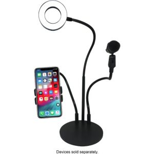 Bayit - Tech Squared Glamour Live Stream Kit for Select Cell Phones - Black