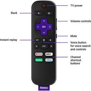 Roku - Voice Remote - Black