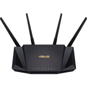 ASUS - Wireless-AX3000 Dual-Band Wi-Fi Router - Black