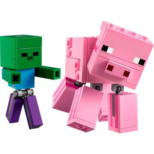 LEGO - Minecraft BigFig Pig and Baby Zombie 21157