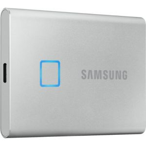 Samsung - Portable T7 Touch 1TB External USB 3.2 Gen 2 Portable Solid State Drive
