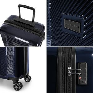 """Bugatti - Manchester 29"""" Expandable Spinner Suitcase - Navy"""