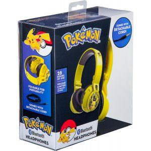 KIDdesigns - eKids Pokemon Pikachu Wireless Over the Ear Headphones - yellow