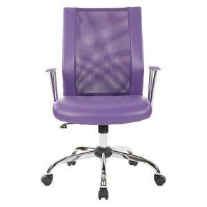 OSP Home Furnishings - Bridgeway Office Chair with Woven Mesh and Chrome Base - Purple