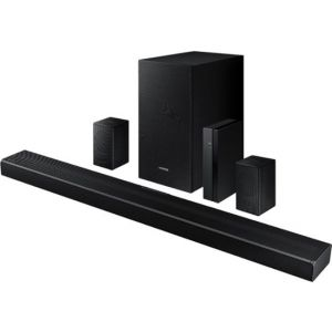 Samsung - HW-Q65T 7.1ch Sound bar with Rear Kit - Black