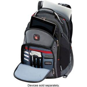 """Wenger - Synergy Backpack for 16"""" Laptop - Black/Gray"""