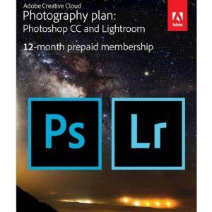 Adobe Creative Cloud Photography Plan (1-User) (1-Year Subscription)