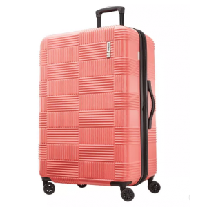 """American Tourister 28"""" Checkered Hardside Spinner Suitcase"""