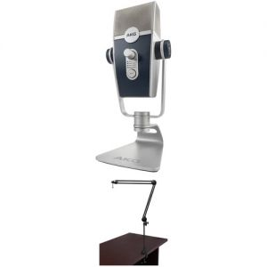 AKG Lyra Broadcasting Kit with Multipattern USB Mic & Boom Arm