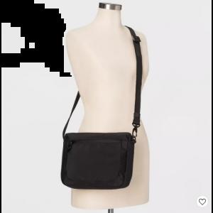 AntiTheft RFID Medium Crossbody Handbag Black