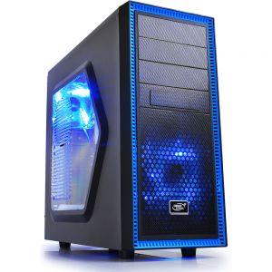 Deepcool Tesseract Mid-Tower Case (Black / Blue, Window)