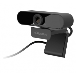 Aluratek - 1080 HD Webcam with Microphone - Black