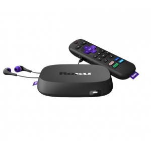 Roku - Ultra (2020) 4K/Dolby Vision Streaming Media Player with Voice Remote, TV Controls, and Premium HDMI Cable - Black