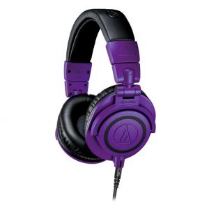 Audio-Technica ATH-M50x Monitor Headphones (Purple and Black)