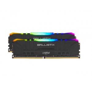 Crucial 16GB Ballistix RGB DDR4 3600 MHz UDIMM Gaming Desktop Memory Kit (2 x 8GB, Black)