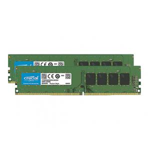 Crucial - DDR4 - 8 GB: 2 x 4 GB - DIMM 288-pin - unbuffered
