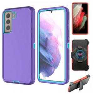Wholesale Premium Armor Heavy Duty Case with Clip for Samsung Galaxy S21 (6.2 inch) (Purple Blue)