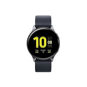 Samsung Galaxy Watch Active 2 - aqua black aluminum - smart watch with band