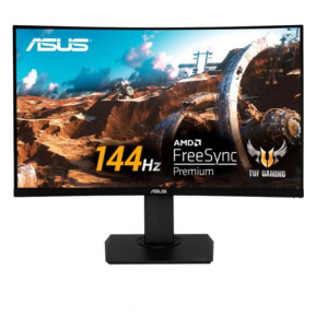 "ASUS - TUF Gaming VG32VQ 144Hz 32"" LCD Curved WQHD 1ms FreeSync Gaming Monitor with HDR (DisplayPort HDMI) - Black"