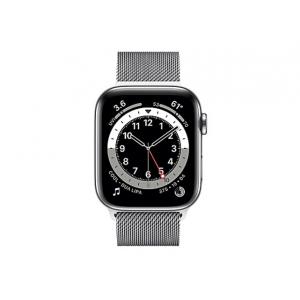 Apple Watch Series 6 (GPS + Cellular) - silver stainless steel - smart watc