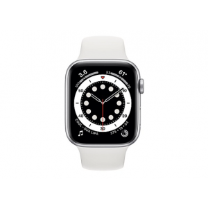 Apple Watch Series 6 (GPS + Cellular) - silver aluminum - smart watch with