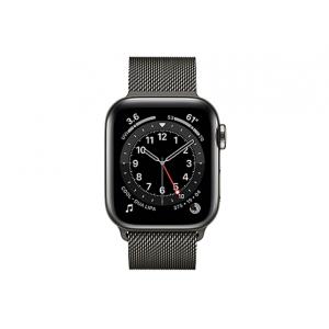 Apple Watch Series 6 (GPS + Cellular) - graphite stainless steel - smart wa
