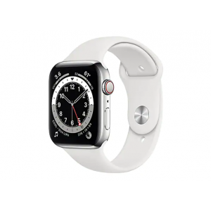 Apple Watch Series 6 (GPS + Cellular) - silver stainless ste
