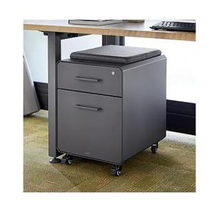 VARI Storage Seat - pedestal - 2 drawers - slate