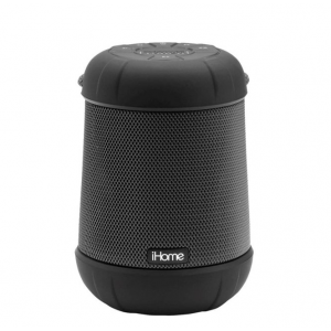 iHome - PlayTough Pro - Bluetooth Rechargeable Waterproof Portable Speaker with 360° Stereo Sound - Black