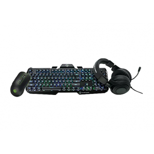 Kaliber Gaming Complete Gaming Pack - keyboard, mouse and headset set - bla