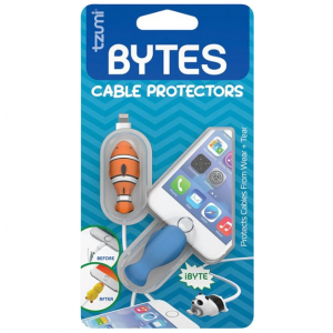 Tzumi - Bytes Connector Plug Protector (2-Pack) - Whale/Clownfish
