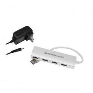 IOGEAR - Met(AL) 4-Port USB 3.0 Hub - White