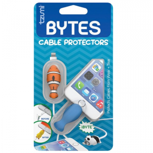 Tzumi - Bytes Conector Plug Protector (2-Pack) - Whale/Clownfish