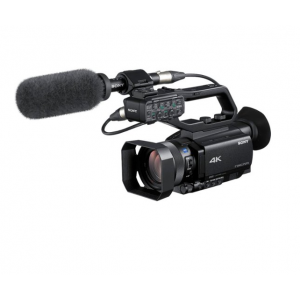 """Sony - NXCAM 4K Compact HDR Camcorder with 1"""" Exmor sensor - Black"""