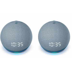 Package - Amazon - Echo Dot (4th Gen) Smart speaker with clock and Alexa - Twilight Blue (2 pack)