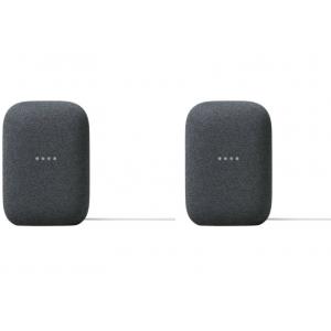 Package - Google - Nest Audio - Smart Speaker - Charcoal (2 pack)