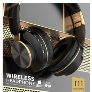 Wholesale Gold Chrome Fashion Bluetooth Wireless Foldable Headphone