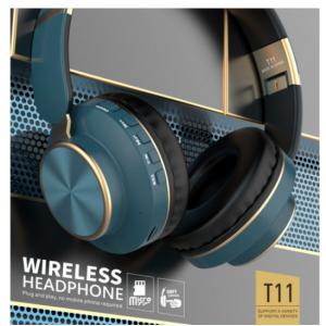 Wholesale Gold Chrome Fashion Bluetooth Wireless Foldable Headphone Headset with