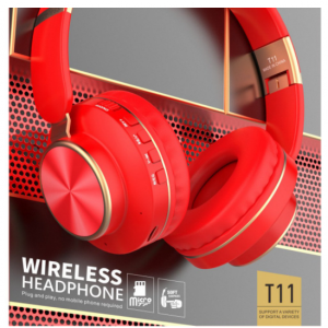 Wholesale Gold Chrome Fashion Bluetooth Wireless Foldable Headphone Headset with Built in Mic for Adults