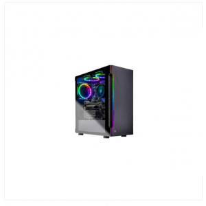 RYZEN 5 2600 6-Core 3.4 GHz, GTX 1650 Super, 500GB SSD, 8GB DDR4 3000, RGB Fans, AC WiFi, Windows 10 Home 64-Bit, Black (Refurbished)