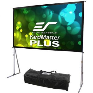 "Elite Screens Yard Master Plus 180""/16:9 Indoor/Outdoor Portable Foldaway Screen (Cine White)"
