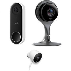 Google Nest Hello Video Doorbell with Nest Cam Indoor