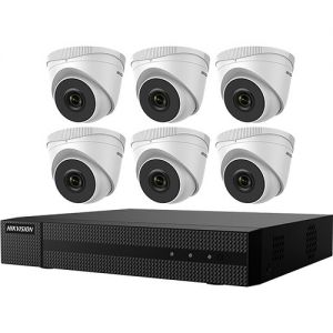 Hikvision EKI-Q82T26 8-Channel 4MP NVR with 2TB HDD & 6 2MP Night Vision Turret Cameras Kit