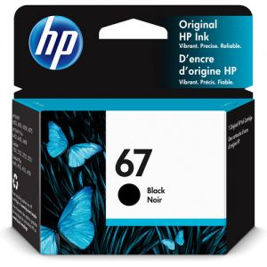 HP 67 Black Ink Cartridge for Select ENVY Printers