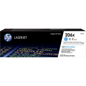 HP 206X High-Yield Cyan LaserJet Toner Cartridge
