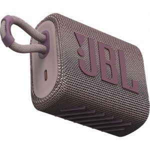 JBL Go 3 Portable Bluetooth Speaker (Pink)