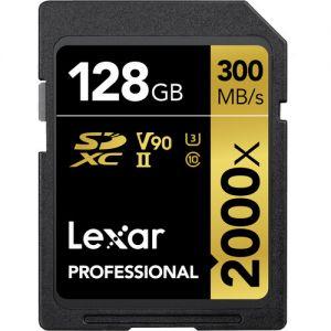 Lexar 128GB Professional 2000x UHS-II SDXC Memory Card (2-Pack)