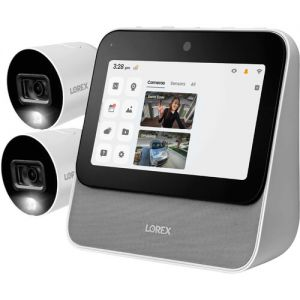 Lorex Home Center with 2 1080p Outdoor Wi-Fi Night Vision Bullet Cameras & 1080p Wi-Fi Floodlight Camera Kit