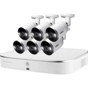 Lorex 8-Channel 4K UHD NVR with 3TB HDD, 6 4K Smart Deterrence Night Vision Bullet Cameras & 2 4K Smart Deterrence Night Vision Dome Cameras