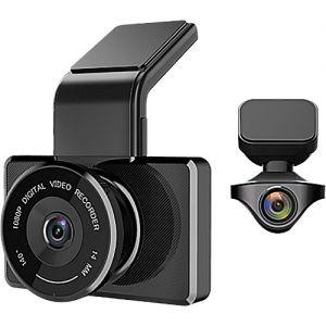 myGEKOgear Orbit 950 2-Channel 1080p Dual Dash Cam with16GB microSD Card